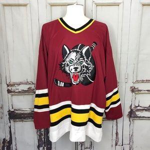 Vintage STARTER Chicago Wolves hockey jersey large